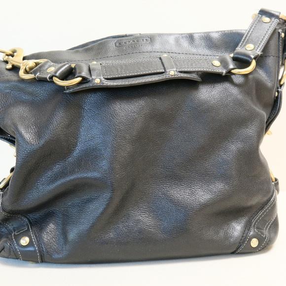 Coach Handbags - Coach Carly black leather handbag (large) a7f06198e72e8